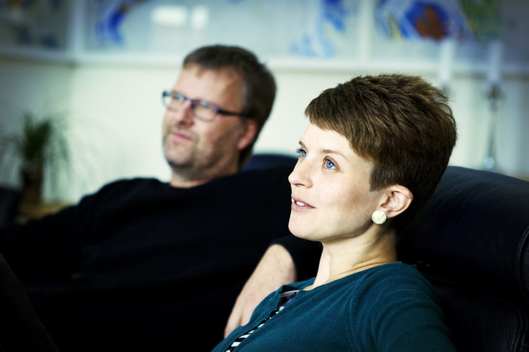 Barbara Ilskov og Gert holder foredrag